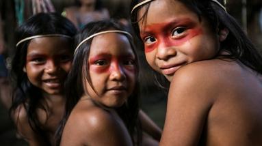 Waorani-children_Caroline-Bennett